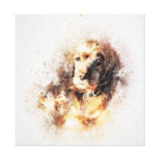 Watercolour Spaniel Dog Canvas Print