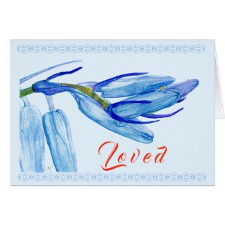 Watercolour Spring Bluebell | Greeting Card