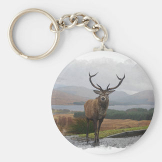 Watercolour Stag Keychain