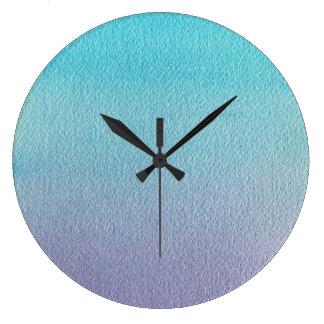 Watercolour texture large clock