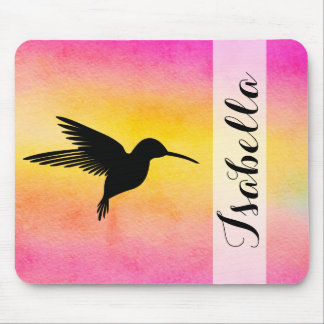 Watercolour Textured Hummingbird Colibri MousePad