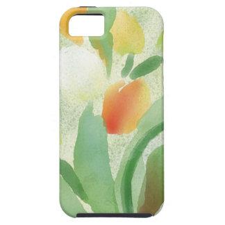 Watercolour tulip flowers, original artwork case for the iPhone 5