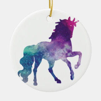 Watercolour Unicorn Ceramic Ornament