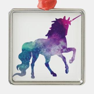 Watercolour Unicorn Metal Ornament