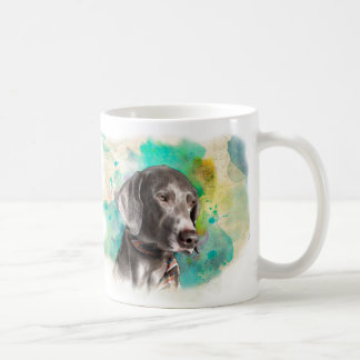 WATERCOLOUR WEIMARANER MUG