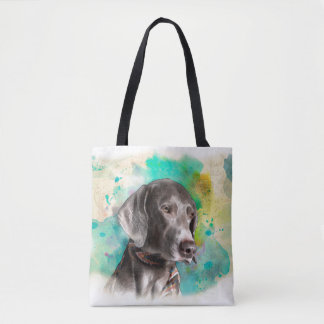 WATERCOLOUR WEIMARANER TOTE BAG