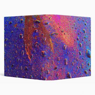 Waterdrops On Car Hood Vinyl Binder