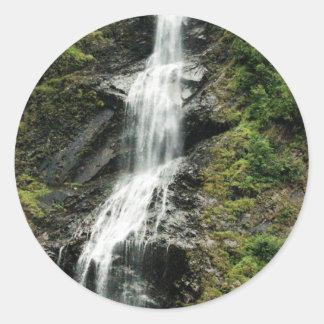 waterfall2 classic round sticker