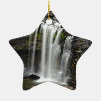 Waterfall 2 ceramic ornament