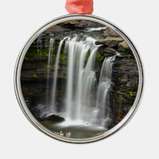 Waterfall 2 metal ornament