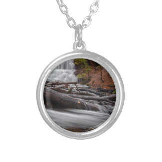 Waterfall 3 silver plated necklace