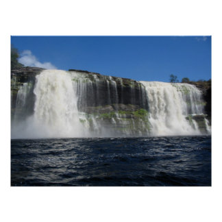 Waterfall 4 Venezuela Jungle Landscape Fine Art Poster