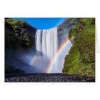 Waterfall and rainbow card