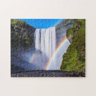 Waterfall and rainbow jigsaw puzzle