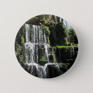 Waterfall at Bowood 2 Inch Round Button