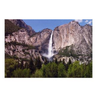 Waterfall at Yosemmite Park Photo Print