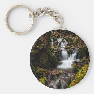 Waterfall Basic Round Button Keychain