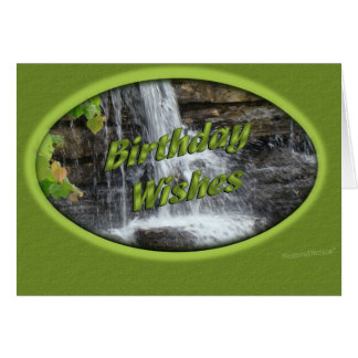Waterfall Bday-customize Greeting Card