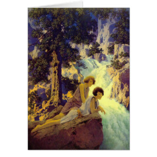 """""""Waterfall"""", by Maxfield Parrish Card"""