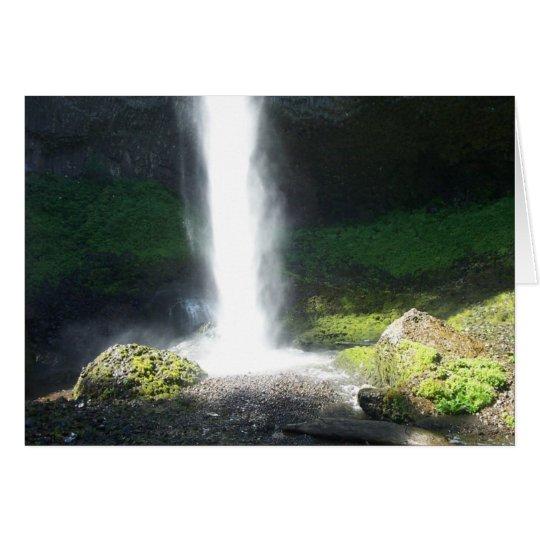 Waterfall. Card