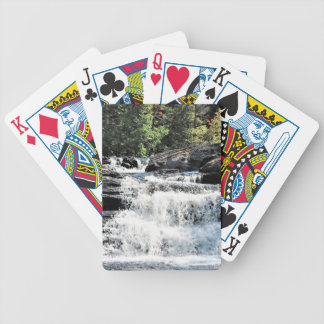 Waterfall Cascades at Moxie Falls West Forks Maine Bicycle Playing Cards