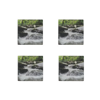 Waterfall Cascades Great Smoky Mountains Stone Magnets