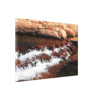 Waterfall cascades, Outback Australia Canvas Print