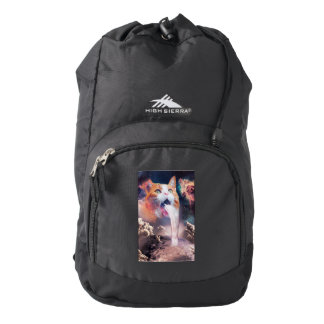 waterfall cat - cat fountain - space cat backpack