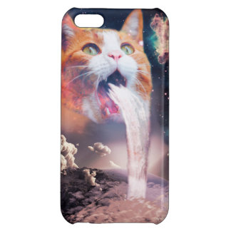 waterfall cat - cat fountain - space cat case for iPhone 5C