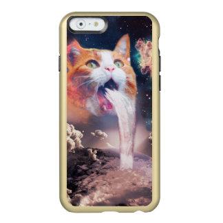 waterfall cat - cat fountain - space cat incipio feather® shine iPhone 6 case