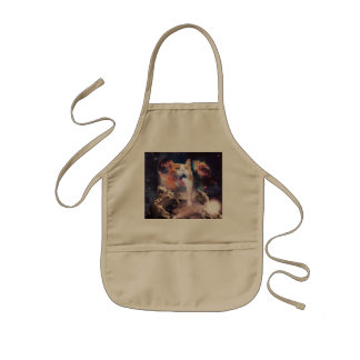 waterfall cat - cat fountain - space cat kids apron
