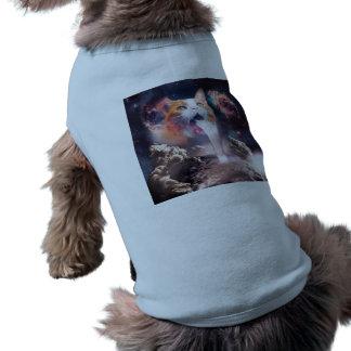 waterfall cat - cat fountain - space cat shirt