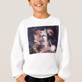 waterfall cat - cat fountain - space cat sweatshirt