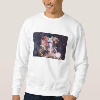 waterfall cat - cat fountain - space cat sweatshirt