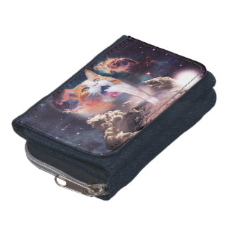 waterfall cat - cat fountain - space cat wallet