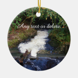 Waterfall Ceramic Ornament
