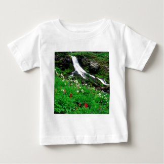 Waterfall Cool Mount Adams Baby T-Shirt
