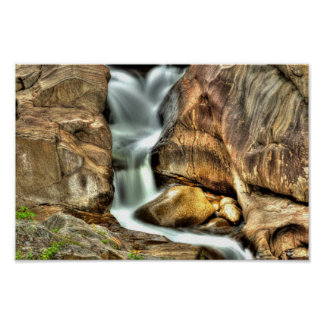 Waterfall, Coos Canyon, Maine Poster