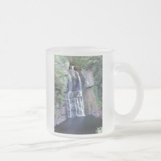 Waterfall Design Frosted Glass Coffee Mug