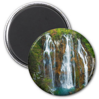 Waterfall elevated view, Croatia 2 Inch Round Magnet