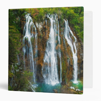 Waterfall elevated view, Croatia 3 Ring Binder