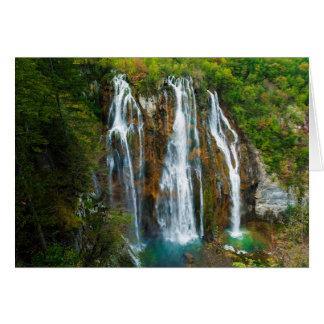 Waterfall elevated view, Croatia Card