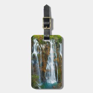 Waterfall elevated view, Croatia Luggage Tag
