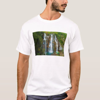 Waterfall elevated view, Croatia T-Shirt