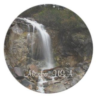 Waterfall Erosion; Alaska Souvenir Dinner Plate