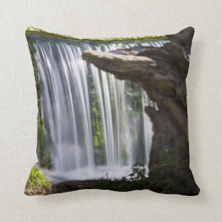 Waterfall Focused Throw Pillow