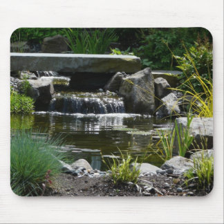 Waterfall Garden Nature Photograph Mouse Pad