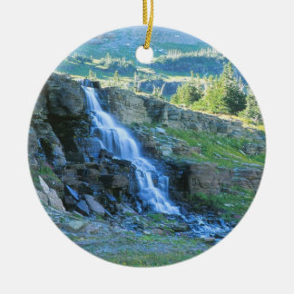 Waterfall Glacier Park Christmas Ornament