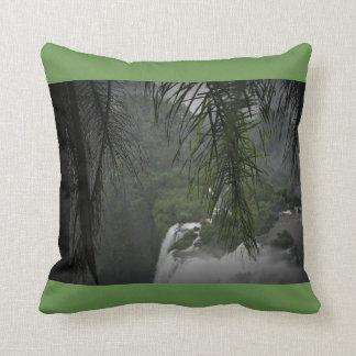 Waterfall Green Throw Pillow
