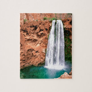Waterfall Havasupai Mooni Grand Canyon Arizona Jigsaw Puzzle